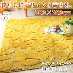 [日本製]モダンデザインラグ【Sole】ソーレ200×200cm