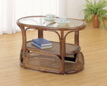 【送料無料】【アジアン家具】ガラストップラタンテーブル 【インテリア 家具テーブル】 / kagoo(カグー) 家具通販のメガサイト/O40T35
